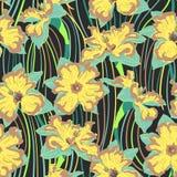 Nahtloses Muster der Narzissenblume Lizenzfreie Stockbilder