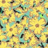 Nahtloses Muster der Narzissenblume Lizenzfreies Stockbild