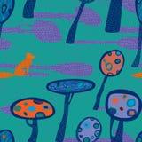 Nahtloses Muster der Natur Stockbilder