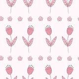 Nahtloses Muster der netten Glockenblumen Geometrische Verzierung auf einem alten Papier Stockbild