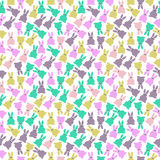 Nahtloses Muster der netten Kaninchen Lizenzfreie Stockbilder