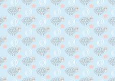 Nahtloses Muster der netten Schafe auf rosa Tupfenhintergrund vektor abbildung