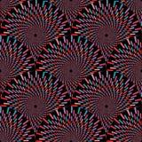 Nahtloses Muster der OPkunst des abstrakten Vektors Bunte Pop-Art, grafische Verzierung Optische Illusion lizenzfreie abbildung