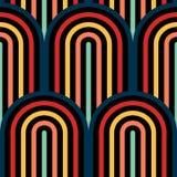 Nahtloses Muster der OPkunst des abstrakten Vektors Farbpop-art, grafische Verzierung Optische Illusion vektor abbildung