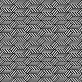 Nahtloses Muster der OPkunst Gezeigt 4 Fliesen (jede Wiederholung 6 Inches) Geometrische Beschaffenheit Lizenzfreie Stockfotos