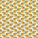 Nahtloses Muster der orange Aprikose Lizenzfreies Stockbild