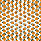 Nahtloses Muster der orange Mandarine Stockbilder