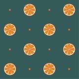Nahtloses Muster der Orangen stock abbildung