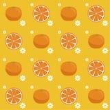 Nahtloses Muster der Orangen lizenzfreie abbildung