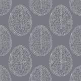 Nahtloses Muster der Ostereier Handgezogener abstrakter Frühlings-Feiertagshintergrund in der modernen Art für Oberflächenentwurf lizenzfreie stockfotografie
