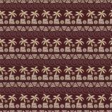 Nahtloses Muster der Palme Lizenzfreies Stockfoto