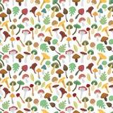 Nahtloses Muster der Pilzvektor-Illustration Lizenzfreies Stockbild