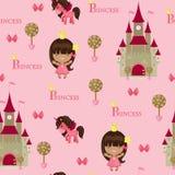 Nahtloses Muster der Prinzessin Lizenzfreies Stockfoto