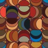 Nahtloses Muster der quadratischen Halbmondweinlese Stockbilder