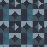 Nahtloses Muster der quadratischen Illusion des Kreises Stockbild