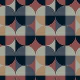 Nahtloses Muster der quadratischen Illusion des Kreises Stockfoto