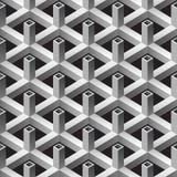 nahtloses Muster der quadratischen Rohre 3d vektor abbildung