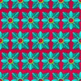 Nahtloses Muster der quadratischen Rosetten Lizenzfreie Stockfotografie