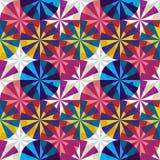 Nahtloses Muster der Regenschirme. stock abbildung