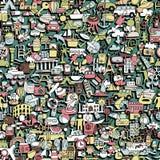 Nahtloses Muster der Reise Stockbild
