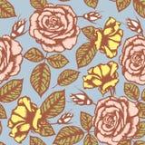 Nahtloses Muster der Retro- Blume Lizenzfreies Stockbild