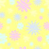 Nahtloses Muster der Retro- Blumen Stockfoto