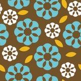 Nahtloses Muster der Retro- Blumen vektor abbildung