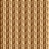 Nahtloses Muster der Retro- mit Blumenstreifen lizenzfreies stockbild