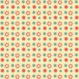 Nahtloses Muster der Retro- Sterne Stockfoto