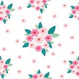 Nahtloses Muster der rosafarbenen Blume stock abbildung