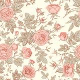 Nahtloses Muster der Rosen lizenzfreie abbildung