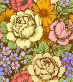 Nahtloses Muster der Rosen stock abbildung
