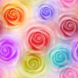 Nahtloses Muster der Rosen, bunt Vektor, eps10 Stockfotografie