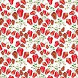Nahtloses Muster der roten Tulpen  vektor abbildung