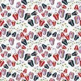 Nahtloses Muster der roten und blauen Tulpen vektor abbildung