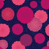 Nahtloses Muster der runden Blumen. Lizenzfreies Stockfoto