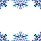 Nahtloses Muster der runden Spitzes, Kreishintergrund, chistmas Schneeflocke Stockfotografie