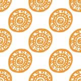 Nahtloses Muster der runden Verzierung Stockfoto