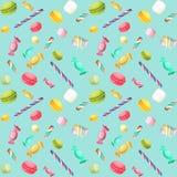 Nahtloses Muster der Süßigkeit Stockbild