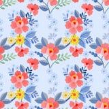 Nahtloses Muster der schönen Blumen stock abbildung
