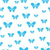 Nahtloses Muster der Schmetterlinge, nettes Tiermuster mit weißem Hintergrund vektor abbildung