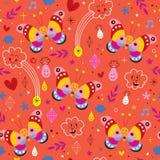 Nahtloses Muster der Schmetterlingsnatur Stockfoto