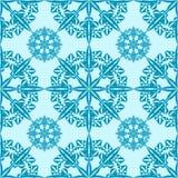 Nahtloses Muster der Schneeflocke Lizenzfreie Stockbilder