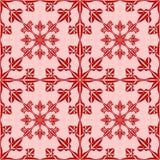 Nahtloses Muster der Schneeflocke Lizenzfreie Stockfotos