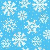 Nahtloses Muster der Schneeflocke stock abbildung