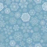 Nahtloses Muster der Schneeflocken Stockfotografie