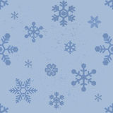 Nahtloses Muster der Schneeflocken Lizenzfreie Stockfotos