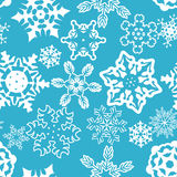 Nahtloses Muster der Schneeflocken. Lizenzfreies Stockbild