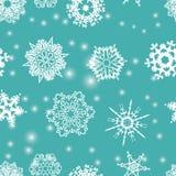 Nahtloses Muster der Schneeflocken. Lizenzfreie Stockfotografie