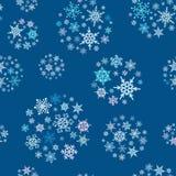 Nahtloses Muster der Schneeflockenbälle lizenzfreie abbildung